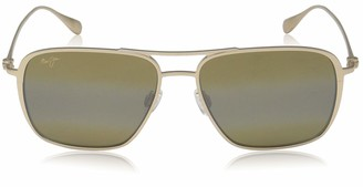 Maui Jim Sunglasses | Beaches H541-16A | Satin Gold Aviator Frame Polarized HCL Bronze Lenses with Patented PolarizedPlus2 Lens Technology