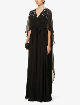 Givenchy Sequin-embellished silk gown