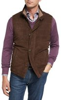 Peter Millar Worthington Suede Vest, Brown