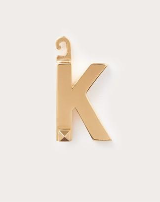"Valentino Garavani Call Me k"" Charm Women Gold Brass 100% OneSize"