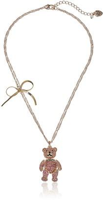 "Betsey Johnson Sweet Shop"" Pave Bear Pendant Necklace"