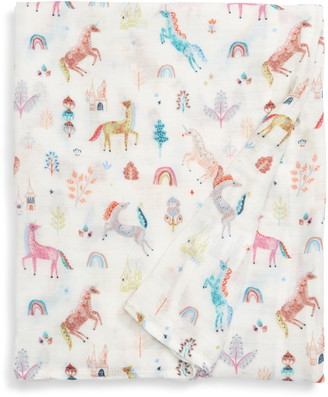 Loulou Lollipop Unicorn Dream Muslin Swaddle Blanket