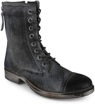 ROAN Leather Lace-Up Combat Boots - Affair P