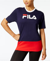 Fila Reba Cotton Colorblocked T-Shirt