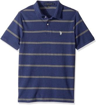 U.S. Polo Assn. Men's Classic Fit Stripe Short Sleeve Pique Polo Shirt