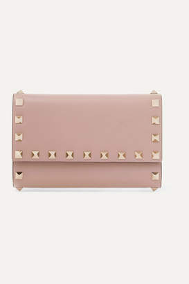 Valentino Garavani Rockstud Medium Leather Wallet - Blush