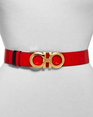 Salvatore Ferragamo Gancini 3.5 Reversible Leather Belt
