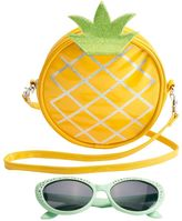 Girls 4-16 Pineapple Crossbody Bag & Sunglasses Set