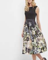 Ted Baker Gem Gardens Pleated Dress Black