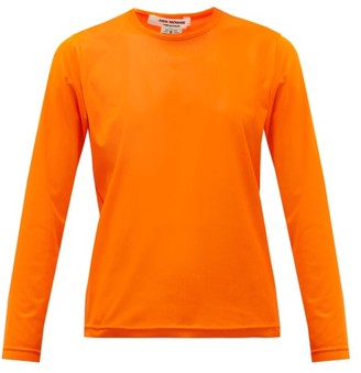 Junya Watanabe Long-sleeve Technical-mesh T-shirt - Womens - Orange
