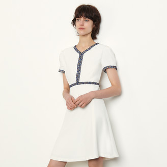 Sandro Short dress with fringed trim