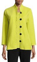 Caroline Rose Wool Ottoman Easy Jacket, Plus Size