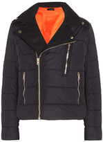 Joseph Darlington Quilted Twill-paneled Shell Jacket - Navy