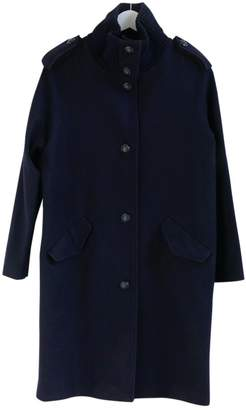 Sessun Navy Wool Coats