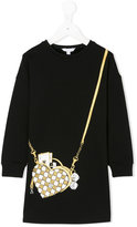 Little Marc Jacobs bag embroidered knitted dress - kids - Cotton/Spandex/Elastane/Viscose - 4 yrs