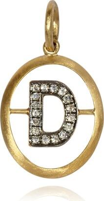 Annoushka Yellow Gold And Diamond Initial D Pendant