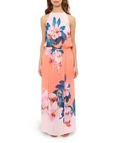 Ted Baker Sunara Orchid Wonderland Maxi Dress Swim Cover-Up