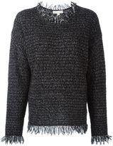 MICHAEL Michael Kors frayed edge jumper - women - Acrylic/Linen/Flax/Nylon/Mohair - L