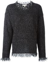 MICHAEL Michael Kors frayed edge jumper - women - Linen/Flax/Acrylic/Nylon/Alpaca - L