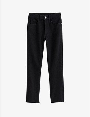 Claudie Pierlot Straight flared high-rise jeans