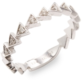 Ef Collection Women's Diamond Triangle Stack Ring