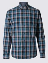 Marks and Spencer Premium Pure Cotton Long Sleeve Shirt