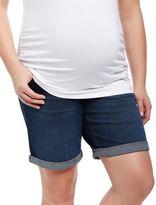 Plus Size Secret Fit Belly Roll Hem Maternity Shorts