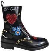 Dolce & Gabbana Dolce E Gabbana Women's Black Leather Ankle Boots.