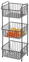 Delfinware 3 Tier Vegetable Rack, Black