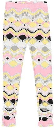 Emilio Pucci Kids Printed cotton-jersey leggings