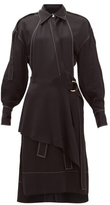 Proenza Schouler Topstitched Gabardine Shirtdress - Womens - Black