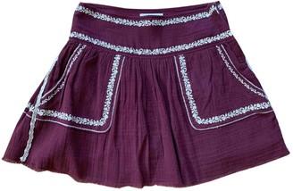 Etoile Isabel Marant Burgundy Cotton Skirts