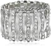 "GUESS Basic"" and Crystal Wide Stretch Bracelet"