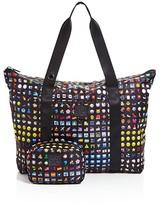Terez Girls' Emoji Print Collapsible Tote Bag