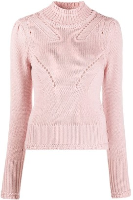 Dondup Perforated High-Neck Jumper