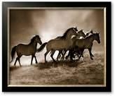 Art.com Wild Horses Framed Art Print by Lisa Dearing