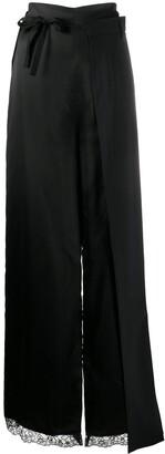 MM6 MAISON MARGIELA Lace Trim Layered Long Skirt