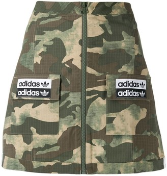 adidas A-line camouflage pattern skirt