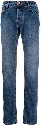 Hand Picked Ravello contrast-stitched jeans