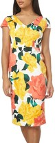 Dorothy Perkins Women's Floral Print Scuba Pencil Dress