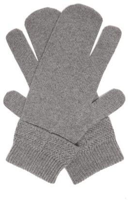 Maison Margiela Split Wool-blend Mittens - Dark Grey
