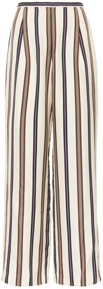 Tory Burch Striped Silk Pant