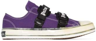 Palm Angels vulcanized touch-strap sneakers purple