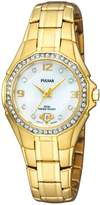 Pulsar Crystal Collection Gold-tone Bracelet Mother-of-pearl Dial Women's watch #PXT800