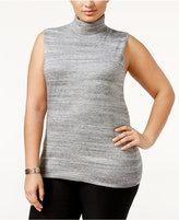 Calvin Klein Plus Size Sleeveless Turtleneck Sweater