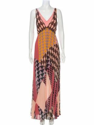 Self-Portrait Printed Long Dress w/ Tags Purple