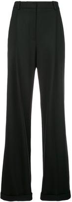 Oscar de la Renta Wide-Leg Tailored Trousers