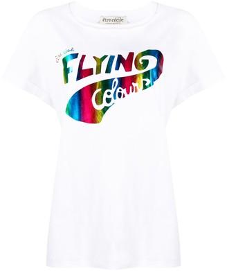 Être Cécile flying colours rainbow print T-shirt