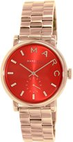 Marc Jacobs Baker MBM3344 Women's Wrist Watches, Red Dial