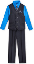 Nautica Little Boys' Stripe Vest, Shirt, Tie & Suiting Pants